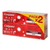 Colgate Max White - Dentifrice One menthe sensation les 2 tubes de 75 ml