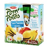 Compotes Pom'potes Materne Pomme/poire/vanille - 4x90g