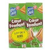 Biscuits fourrés P'tit Déli Coeur fondant noisette - 2x225g