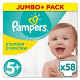 Couches Premium protect Pampers T5 + Jumbo - x58