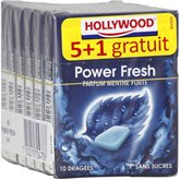 Chewing-gum menthe forte s/sucres Hollywood