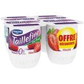 Taillefine Yaourt brassé fraise 0% MG les 4 pots de 125 g - offre découverte