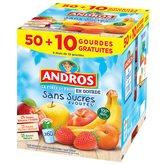 Gourdes panachés Andros Sans sucre ajouté - 50x90g