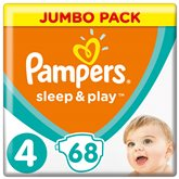 Couches Pampers Sleep & Play Jumbo + - Taille 4 - x68