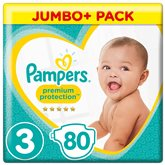 Couches Pampers Premium T3 x80
