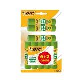 Bic Colle en stick  colle papier et carton x6+2 grt
