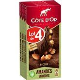 Côte d'Or Tablette de chocolat  Chocolat Noir/Amandes - 4x180g