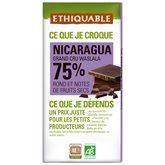 Ethiquable Chocolat noir  Nicaragua, Bio - 100g
