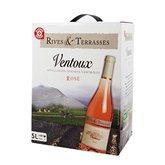 Rives et Terrasses Vin rosé  Ventoux AOC - Bag in Box 5L