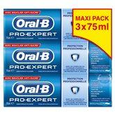 Oral B Dentifrice Pro-Expert  Menthe extra-fraîche - 3x75ml