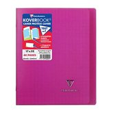 Clairefontaine Cahier Koverbook Clairefontaine Rose - 48 pages - 17x22cm
