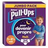 Huggies Culottes Pull-Ups  Nuit Garçon 2-5ans 8/17kg - x25
