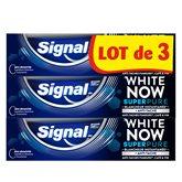 Signal Dentifrice  White Now Super Pure - 3x75ml