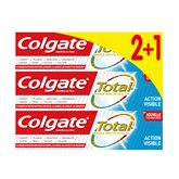 Colgate Dentifrice  Total Action visible - 3x75ml