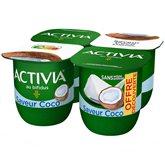 Danone Yaourt Bifidus Activia Danone Saveur coco - 4x125g