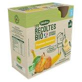 Blédina Gourde Les récoltes bio  Pomme banane - 4x90g