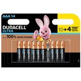 Duracell Piles Ultra Power  AAA - x10 + 4
