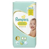 Pampers Couches  Premium Protect T3 : 5/9kg - x50 changes