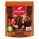 Côte d'Or Chocolat Carrés Côte d'Or Noir noisette - 200g