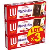 LU Biscuits Petit Ecolier Chocolat noir - 3x150g