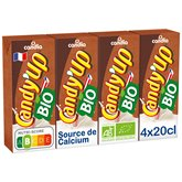 Candia Boisson lactée Candy up Bio Chocolat - 4x20cl