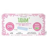 Tadam' Tampon bio Tadam Dermo-sensitifs mini - x16