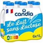 Candia Lait demi-écrémé Candia Le Lait sans lactose UHT - 6X1L