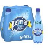 Perrier Eau minérale naturelle gazeuse Perrier Fines bulles - 6x50cl