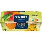 St Mamet Fruits au sirop St Mamet Pêche douceur - x4 - 260g