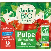 Jardin Bio Pulpe tomate basilic Jardin Bio 500g