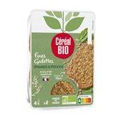 Céréal Bio Galettes fines Céréal Bio Epinard Pignon - 180g