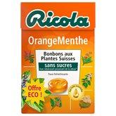 Ricola Ricola orange-menthe Sans sucre - Boîte 50g