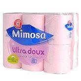 Papier toilette rose Mimosa