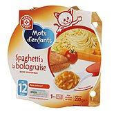 Repas Mots d'Enfants spaghettis